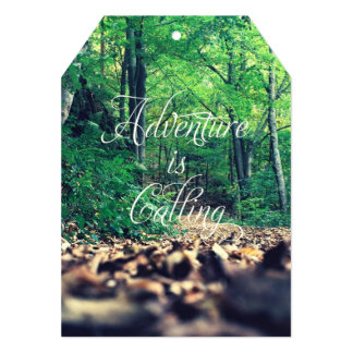Adventure is calling card