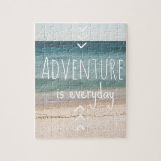 """Adventure is everyday"" Puzzle"