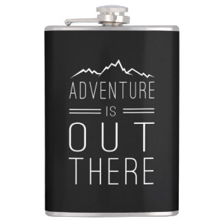 Adventure is Out There Hip Flask