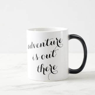 Adventure is out there inspirational travel quote magic mug