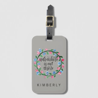 Adventure is Out There Luggage Tag
