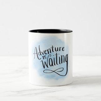Adventure is waiting Two-Tone coffee mug