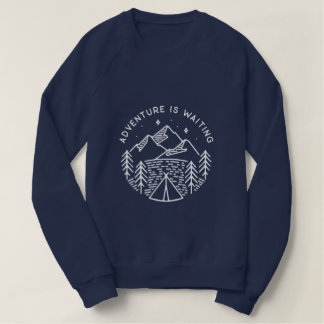 Adventure is Waiting Women's Raglan Sweatshirt