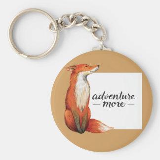 adventure more fox key ring