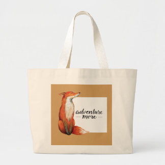 adventure more fox large tote bag
