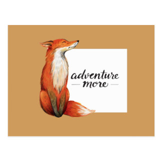 adventure more fox postcard