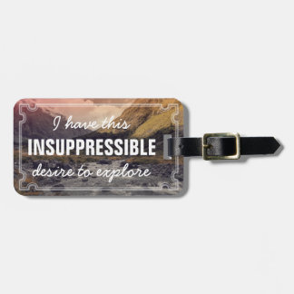 Adventure Road Trip Nature Expedition Personalized Luggage Tag