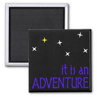 adventure square magnet
