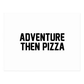 Adventure Then Pizza Postcard