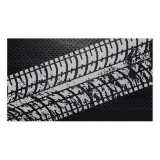 Adventure Tire Tracks Dark Metal Profile Card Pack Of Standard Business Cards