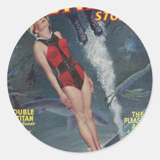 Adventure Underwater Classic Round Sticker