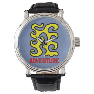 """Adventure"" Vintage Leather Watch"