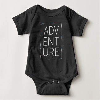 ADVENTURE White Typography Colorful Arrows Baby Bodysuit