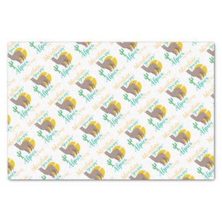 Adventure You Say? Alpaca My Bags Funny Travel Tissue Paper