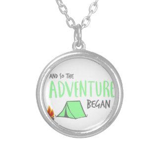 adventurebegan silver plated necklace