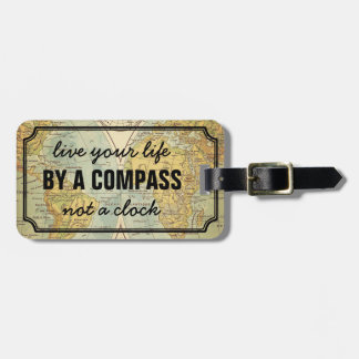 Adventurer Quote World Map Personalized Luggage Tag