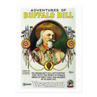 Adventures of Buffalo Bill Postcard