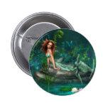 Adventurine Mermaid 6 Cm Round Badge