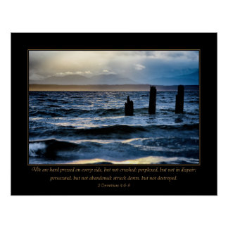 Adversity - 2 Corinthians 4:8-9 Poster
