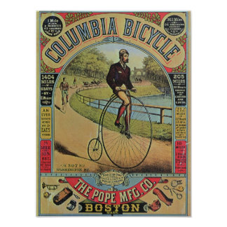 Advert for the Columbia Bicycle Posters