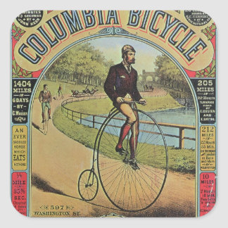 Advert for the Columbia Bicycle Square Sticker