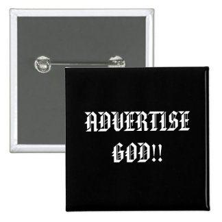 ADVERTISE GOD Religious buttons