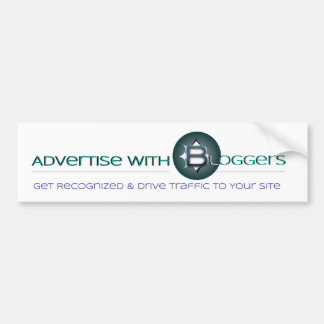 Advertise With Bloggers Bumper Sticker
