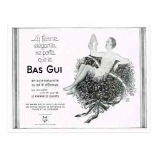 Advertisement, Bas Gui, silk underwear Postcard