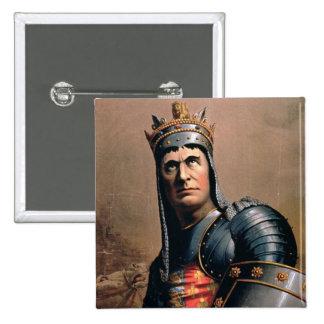 Advertisement for 'John McCullough as Richard III' 15 Cm Square Badge