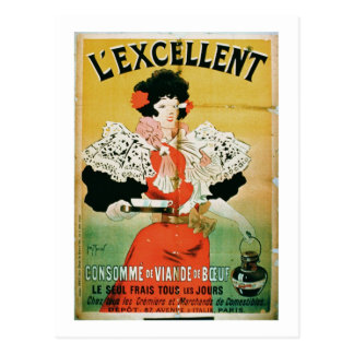 Advertisement for 'L'Excellent Beef Consomme' (col Postcard