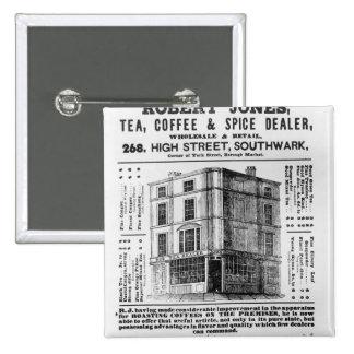 Advertisement for Robert Jones Tea Buttons