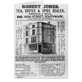 Advertisement for Robert Jones, Tea Cards