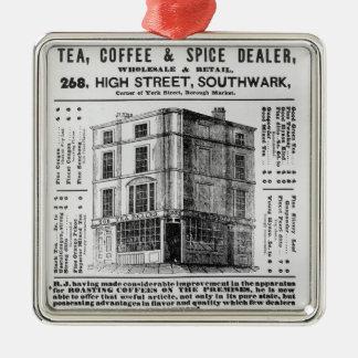 Advertisement for Robert Jones, Tea Christmas Ornaments