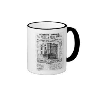 Advertisement for Robert Jones, Tea Coffee Mug