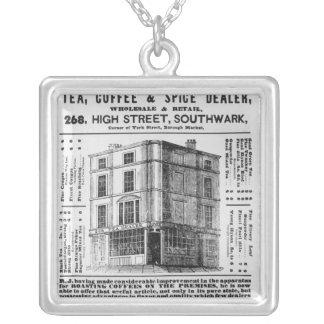 Advertisement for Robert Jones, Tea Square Pendant Necklace