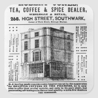 Advertisement for Robert Jones, Tea Square Sticker
