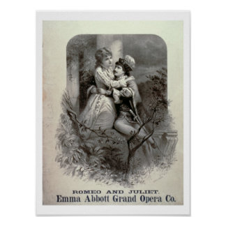 Advertisement for 'Romeo And Juliet', Starring Emm Poster