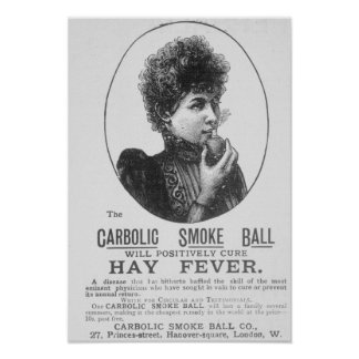 Advertisement for the Carbolic Smoke Ball Posters
