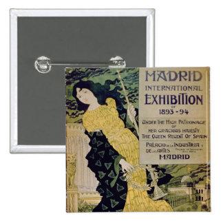 Advertisement for the 'Madrid International Exhibi 15 Cm Square Badge