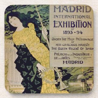 Advertisement for the Madrid International Exhibi Beverage Coaster