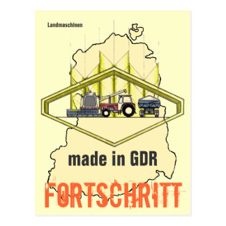 Advertisement GDR agricultural engineering Postcard