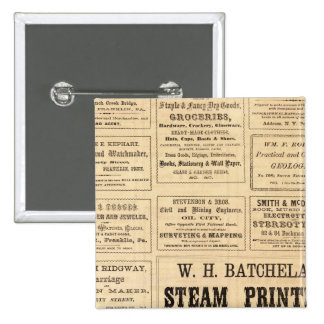 Advertisements for oil 15 cm square badge