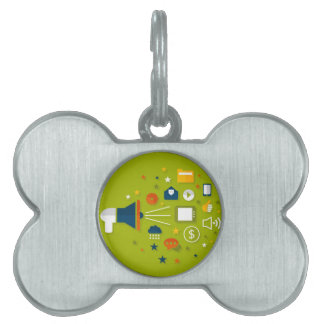 Advertising a megaphone pet ID tag