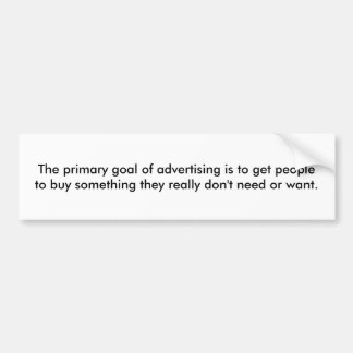 Advertising Bumper Sticker