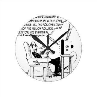 Advertising Cartoon 2133 Round Clock