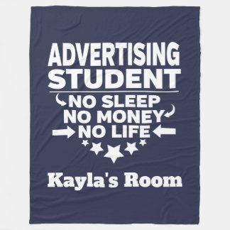 Advertising College Major No Sleep No Money Life Fleece Blanket