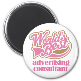 Advertising Consultant Pink Gift 6 Cm Round Magnet