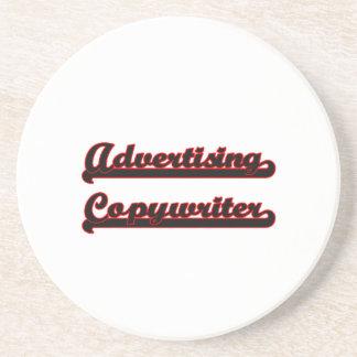 Advertising Copywriter Classic Job Design Drink Coaster