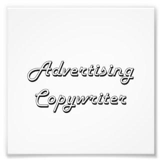 Advertising Copywriter Classic Job Design Photo