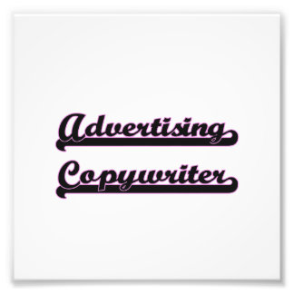 Advertising Copywriter Classic Job Design Photographic Print